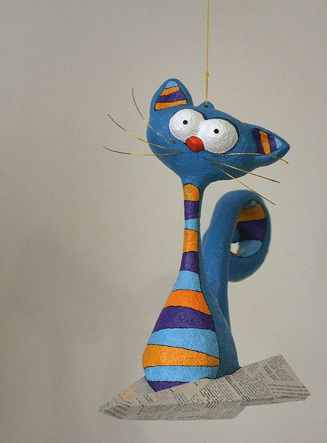 Cat Paper Mache