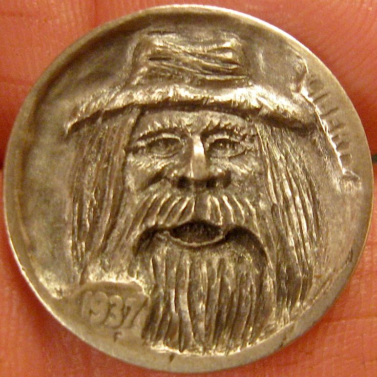 GORDON RAISTRICK HOBO NICKEL - JAMIN SAM - 1937 BUFFALO NICKEL