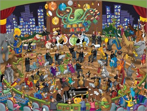 Wandbild von Steve Skelton - Simpatico Symphony