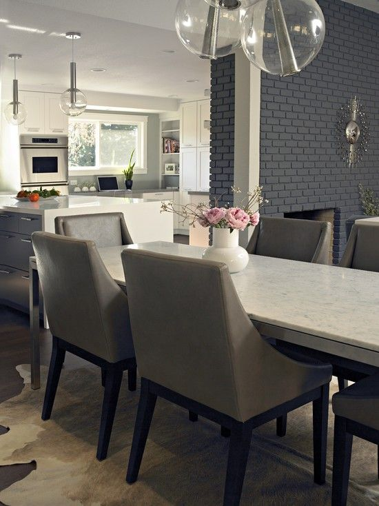 How To Paint Brick Like A Pro Contemporary Dining Room By Fiorella Design