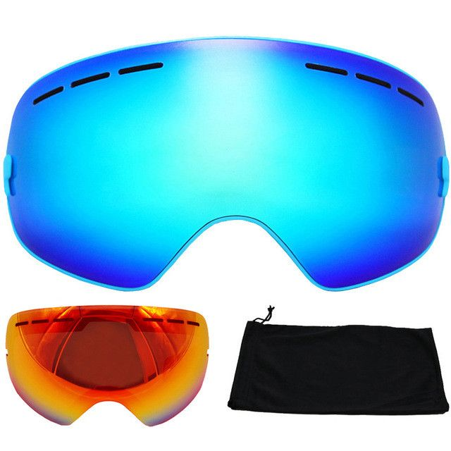 877930719b8 Brand Ski Goggles Double Layers UV400 Anti-fog Big Ski Mask Glasses Skiing  Snowboard Goggles