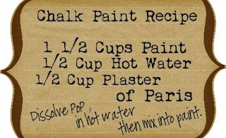 And here is where I get brutally honest....I bought a quart of that crazy over priced chalk paint and I compared it to the home made. Hands down, the homemade was better!  Don't take my word for it...try it for yourself!