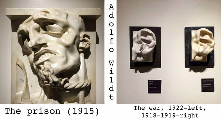 Adolfo Wildt. The prison. The ear