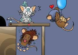 Transformice Na początku będziesz jedną z wielu zwykłych myszy w stadzie. Rozgrywka dzieli się na kilkadziesiąt plansz. Twoim zadaniem jest dobiec do sera i wrócić z nim z powrotem do nory. W każdym etapie będzie jeden szaman, który pomaga stadu wykonać misję.