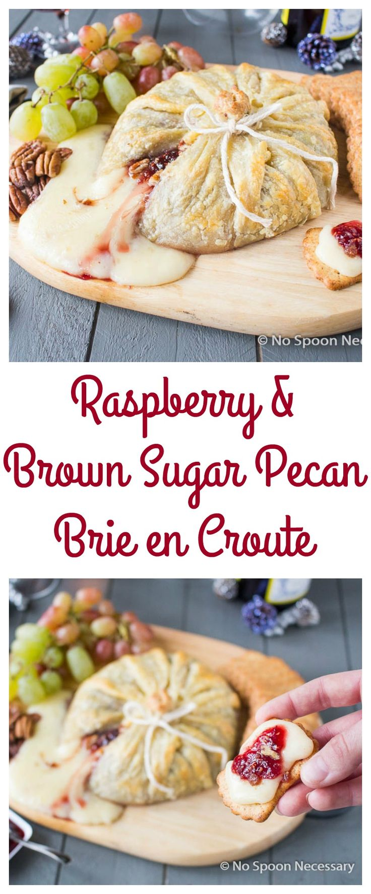 Raspberry & Brown Sugared Pecan Brie en Croute