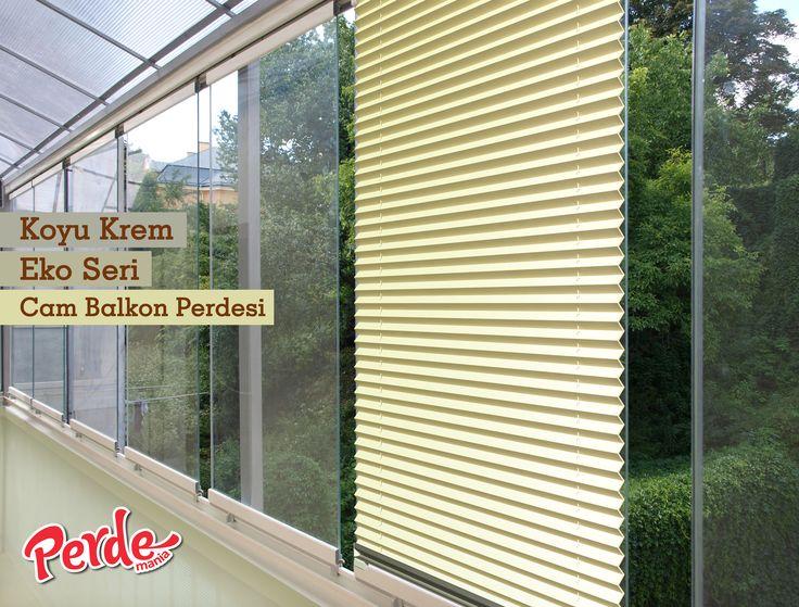 Plicell Koyu Krem Eko Seri Cam Balkon ve PVC Perdesi  Eko seri olan cam balkon perdeleri düz renkleri içerir ve ışığı içeriye soft ve homojen dağıtan yapıdadır. Balkonlar için alternatifi olmayan bir perde türü olan plise perdeler katlanır cam balkonlar için özel üretilmiştir ve katlanmış görüntüsü ile balkon camlarınızda görsel bir şölen sunarken, alev almaz ve kir tutmaz kumaş özelliği ile büyük kolaylıklar sağlar.  #plicell #koyu #krem #perde #blinds #balkon