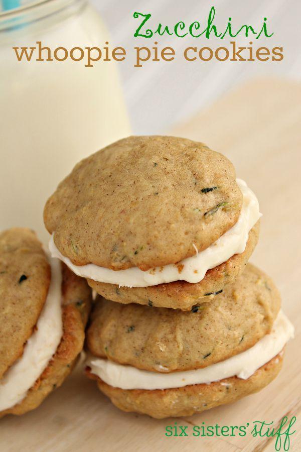Zucchini Whoopie Pie Cookies on SixSistersStuff.com