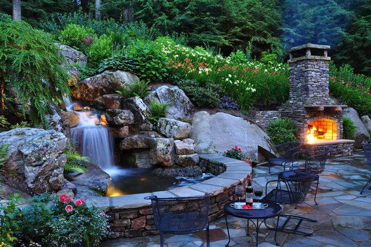 Декоративный водопад в вашем саду: как соорудить самостоятельно
