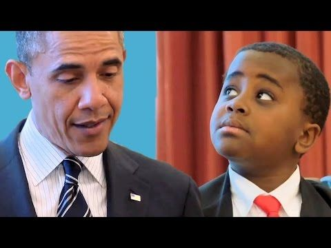 Week Seven: Kid President meets the President of the United States of America - YouTube