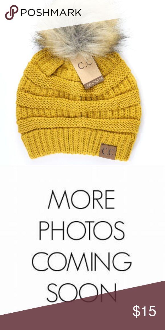 487983d6f56cec Cable Knit CC Beanie w/ faux Fur Pom-Pom Boutique in 2018 | My Posh Picks |  Pinterest | Fashion, Fashion tips and Designer handbags