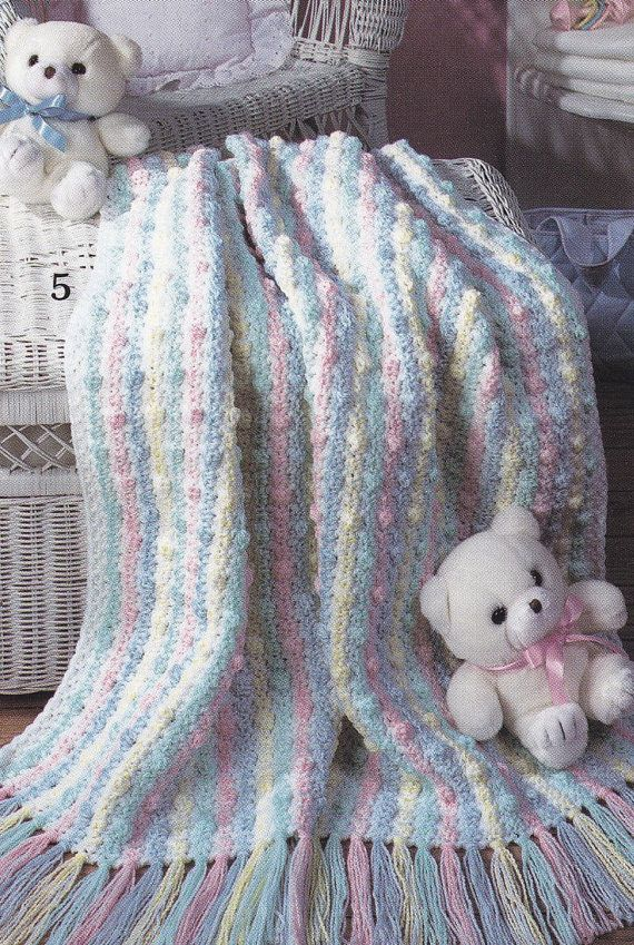 Double Strand Baby Afghan Crochet Pattern Manet For