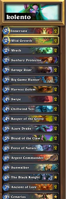 Having toiled in ranks 2-4 for the past week, I finally made my run to legend for the first time. It took 370 games total with a 57% win rate. The surge that got me there was from the charge druid deck (I prefer midrange ramp druid), which I now I think is one of the most straightforward but...