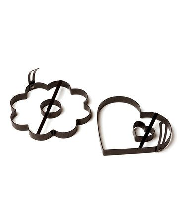 Take a look at this Heart  Daisy Pancake Mold Set by Chicago Metallic Bakeware on #zulily today!