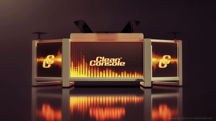 The ClearConsole Modular-Cube LED DJ Booth with custom etched front panel artwork