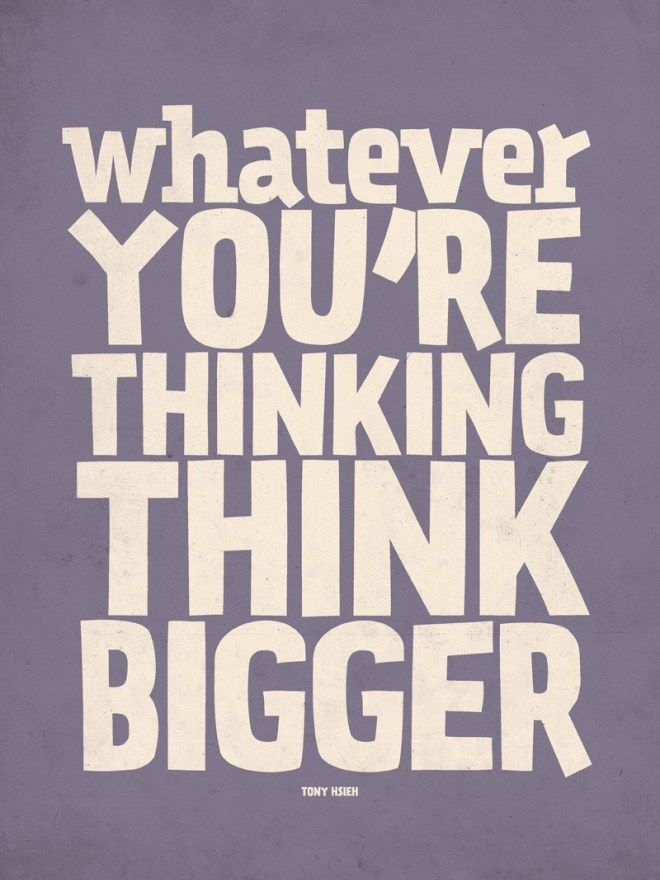 THINK BIG Motivational Poster Photo Print Motivation Inspiration Entrepreneur