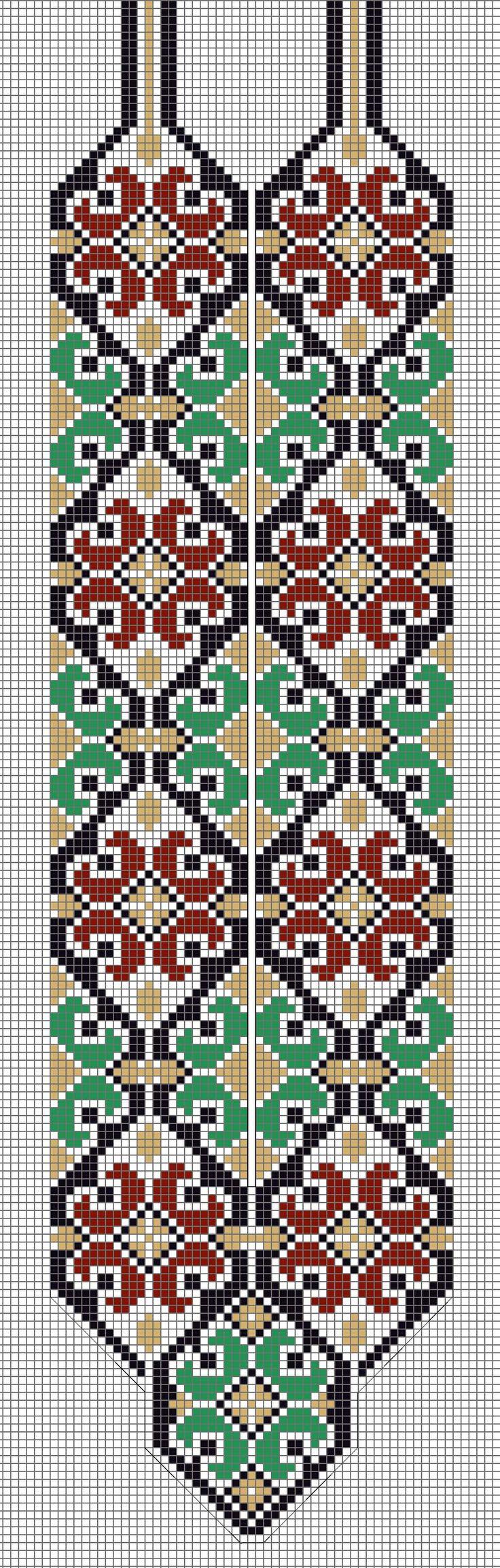Necklace, Gerdan Loom Pattern - Source…