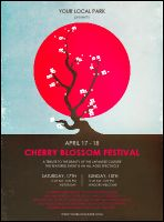 Cherry Blossom Circle Flyer from TicketPrinting.com