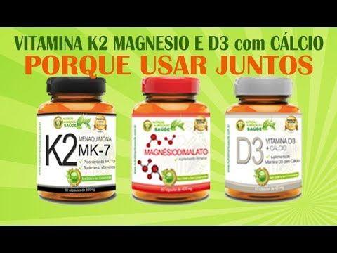 Por que usar Vitamina K2 com Magnesio Dimalato e Vitamina D3 com Cálcio