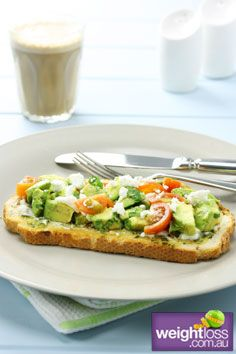 Smashed Avocado on Toast. #HealthyRecipes #DietRecipes #WeightLossRecipes weightloss.com.au