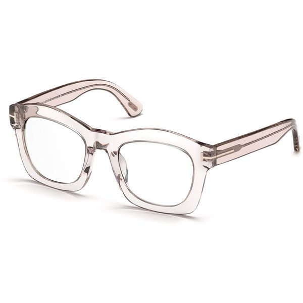 tom ford greta square optical frames rub liked on polyvore featuring accessories eyewear eyeglasses glasses transparent pink plastic eyeglasses