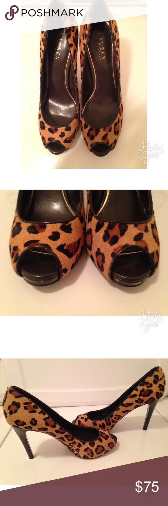 Lauren Ralph Lauren Women Calf Heels Sz 8.5 Lauren Ralph Lauren Women Calf Hair Size 8.5 Lauren Ralph Lauren Shoes Heels