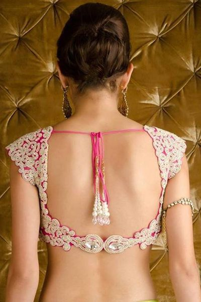 The simple choli has become a high fashion statement #Shaadimagazine #choli #sareeblouse