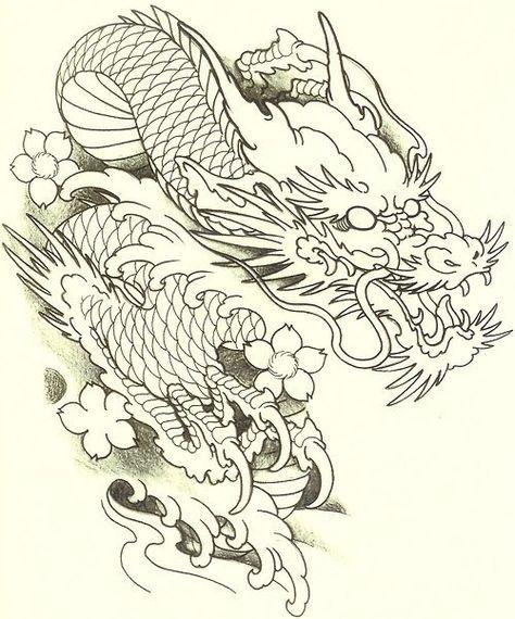 Тату эскизы, Японские татуировки, карп кои, тату драконы.   117 photos   VK