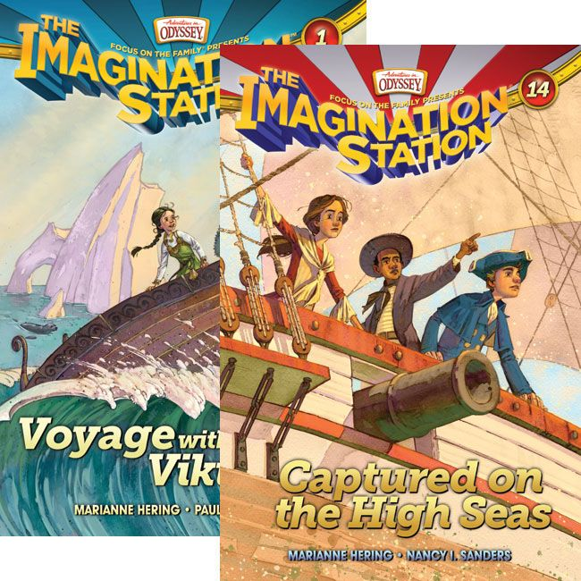 All aboard for fun, adventure, and faith! Join Beth and Patrick as they're whisked through time to complete vital missions in this set that includes books #1 - 14 of the Imagination Station Series.