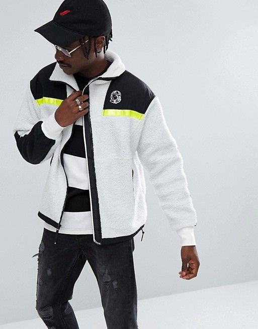 3fab53dcc Billionaire Boys Club Hi-Vis Sherpa Fleece Jacket | Men's Jacket ...