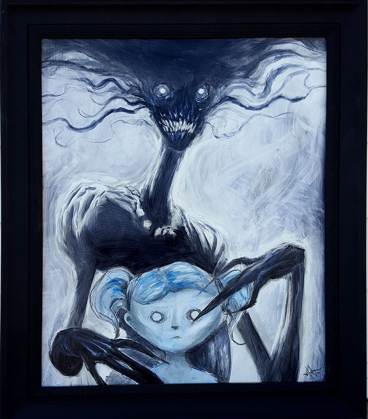 Mama - 16x20 charcoal and oil. My homage to Mr. Del Toro.