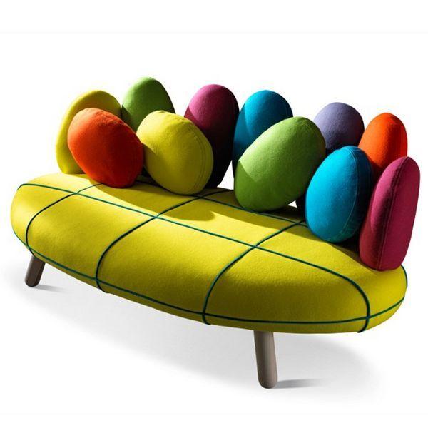 Canape design colore salon en 2019 pinterest canap original fauteuil original et - Fauteuil original salon ...