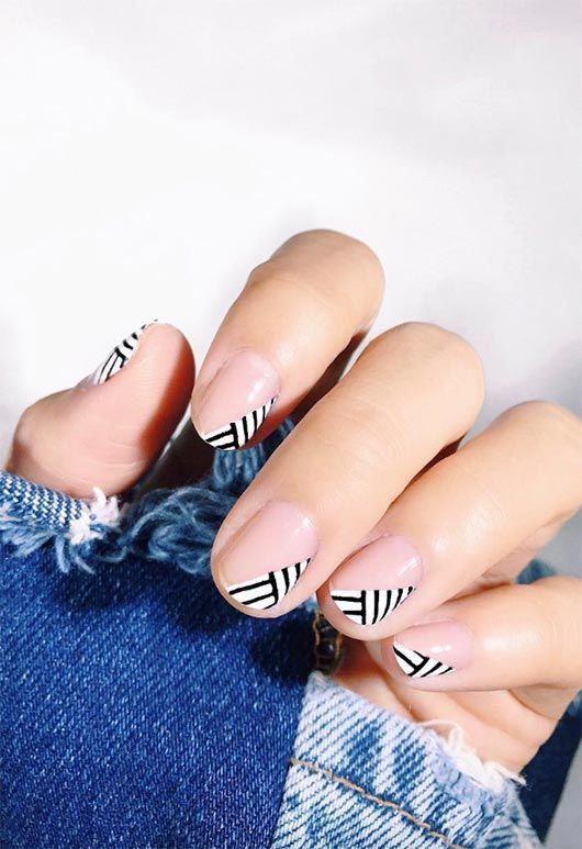 65 beeindruckende Nail Art Designs für kurze Nägel – short nail designs