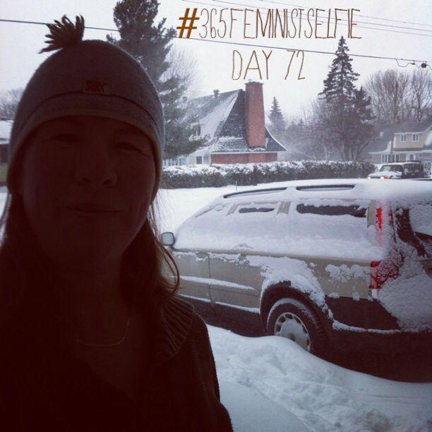 Welp, so much for melting snow! #longestwinterever #365FeministSelfie day 72