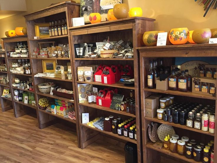 81 best rustic wood grocery farm market general store for Bookshelf display ideas