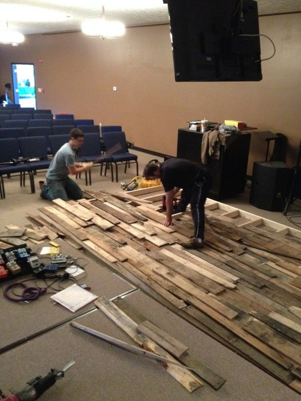How To Build Pallet Walls Church Staging Ideas Church
