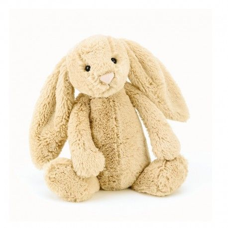 Jellycat Bashful bamse - Kanin - Honning - Mellem