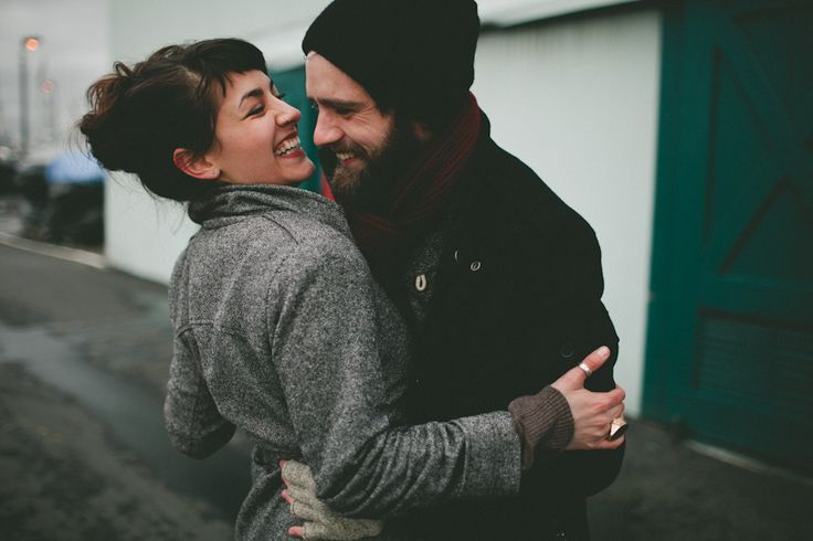 what an adorable hipster couple. this pose is pure gold.