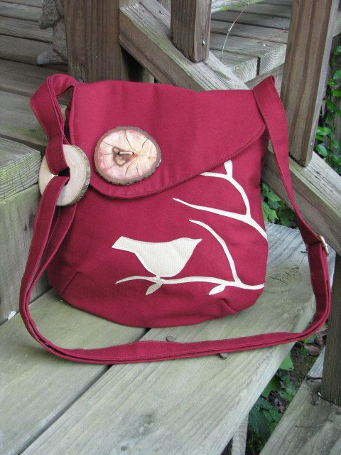Cranberry Bird Shoulder Bag