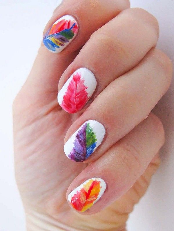 Five Amazing Hand-Printed Nail Art Designs - Best 25+ Multicolored Nails Ideas On Pinterest Colorful Nail