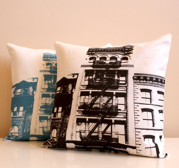 New York City Pillow  Urban Throw Style no3  16 x 16 by NestaHome, $35.00