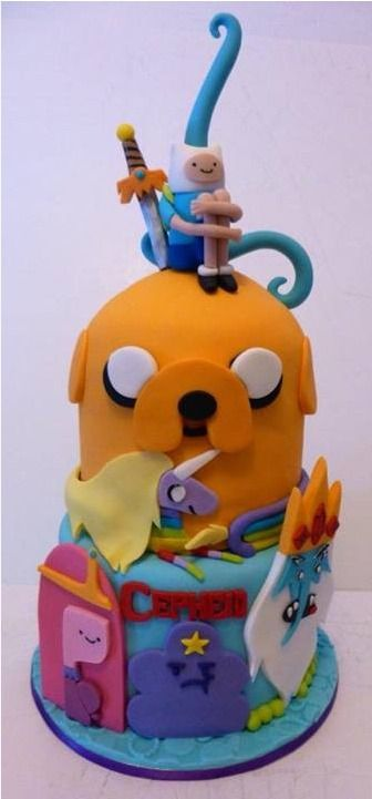Adventure Time cake by Kandy Cakes