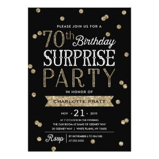 Free 70th Birthday Invitation Designs