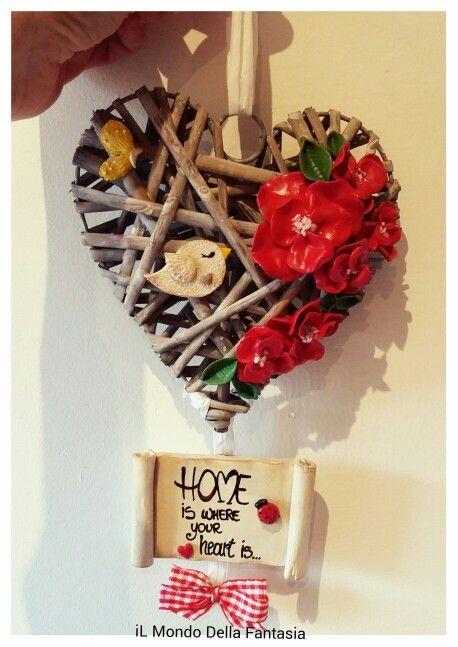Fuoriporta in legno e fimo. Seguimi su istagram: ilmondodellafantasia_shop #fuoriporta #fimo #home #handmade #decorazione