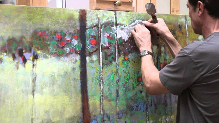"""Rick Stevens discusses and applies various techniques and the process of creating the 2014 oil painting """"Somewhere in May.."""
