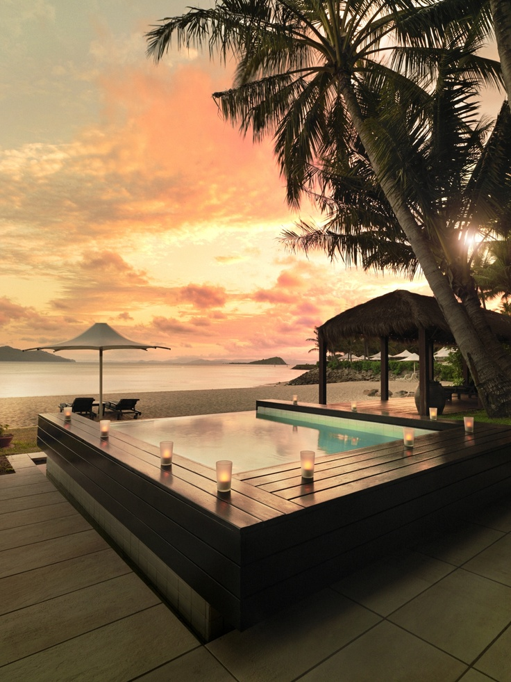 Enjoy the sunset in the Hayman Beach House Plunge Pool #hayman #luxury