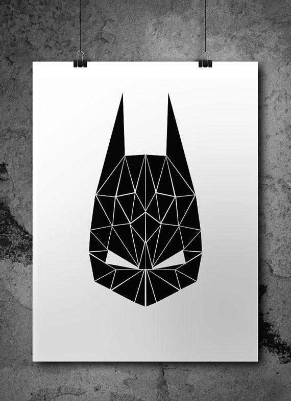 Batman Wall Art Superhero Wall Art Superhero Poster por Illusorium