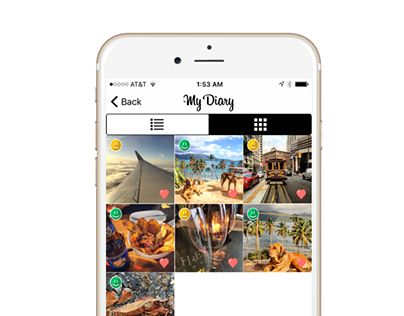 """Check out new work on my @Behance portfolio: """"Diary app for iPhone"""" http://be.net/gallery/40711405/Diary-app-for-iPhone"""