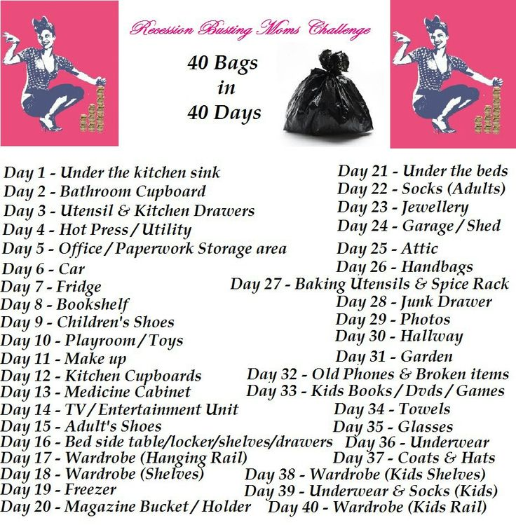 It's just a graphic of Influential 40 Bags in 40 Days Printable