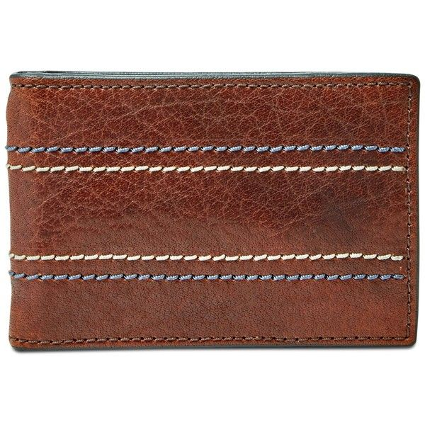 Fossil Men's Reese Leather Money Clip Card Case (2.605 RUB) ❤ liked on Polyvore featuring men's fashion, men's accessories, men's money clips, brown, mens credit card holder with money clip, mens money clip, mens leather accessories, mens leather money clip and mens card holder with money clip