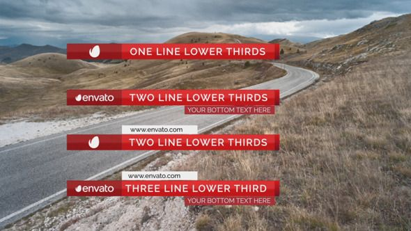 awesome Elegant Lower Thirds Package